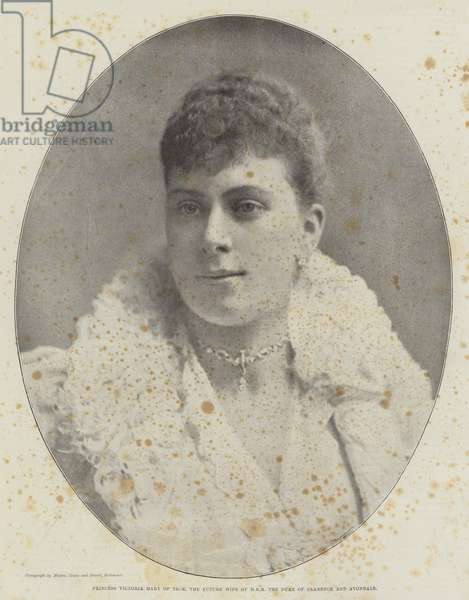 Princess Victoria Mary of Teck, the Future Wife of HRH the Duke of Clarence and Avondale (b/w photo)