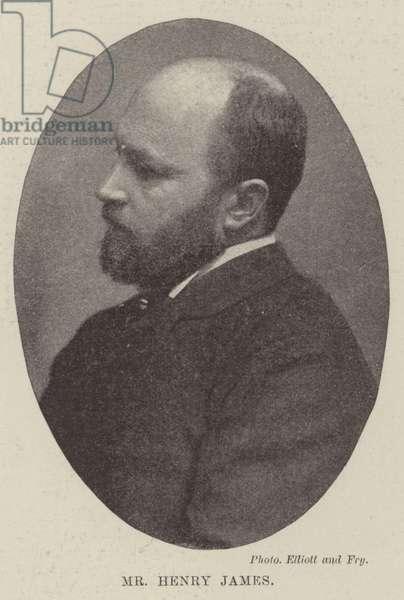 Mr Henry James (b/w photo)