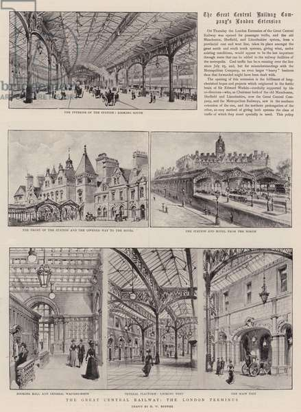 The Great Central Railway, the London Terminus (litho)