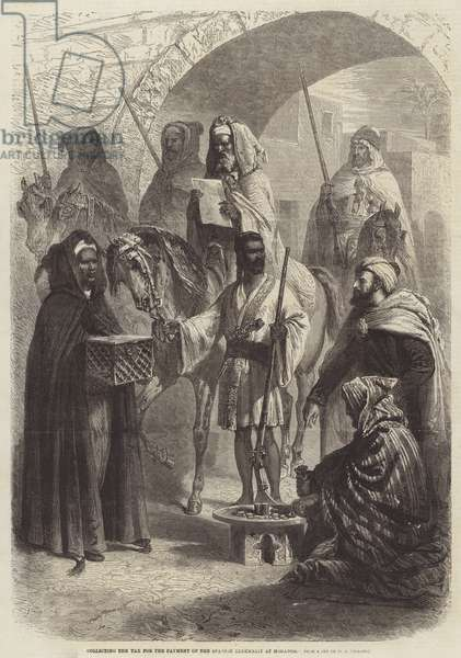 Collecting the Tax for the Payment of the Spanish Indemnity at Mogador (engraving)