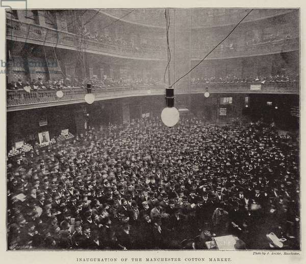 Inauguration of the Manchester Cotton Market (b/w photo)