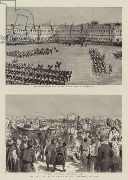 The Arrival of the New Khedive of Egypt, Abbas Pasha, at Cairo (engraving)