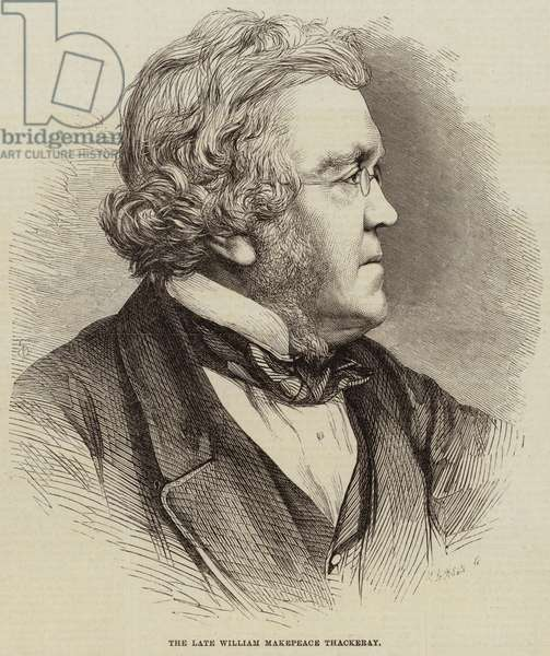 The Late William Makepeace Thackeray (engraving)