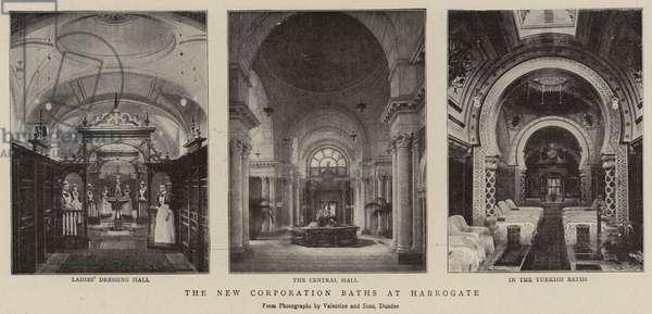The New Corporation Baths at Harrogate (b/w photo)