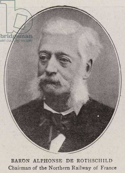 Baron Alphonse de Rothschild (b/w photo)