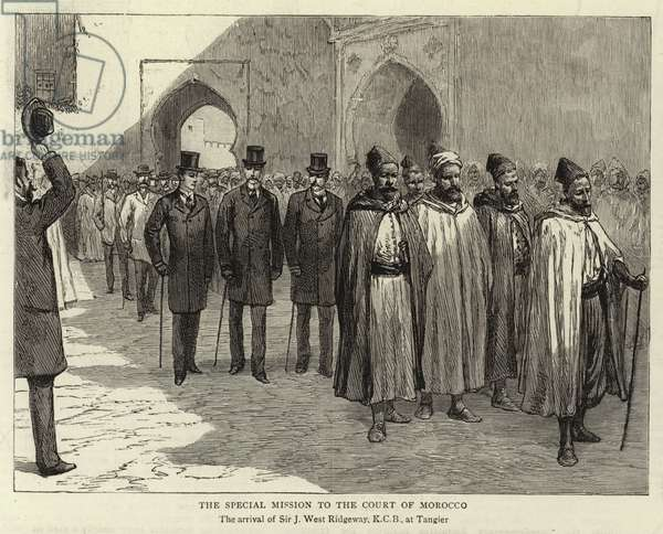 The Special Mission to the Court of Morocco (engraving)
