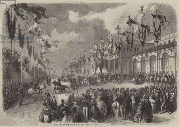 Reception of the Grand Duke Constantine of Marseilles (engraving)