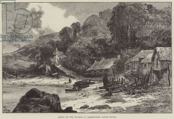Scene of the Murder at Babbicombe, South Devon (engraving)