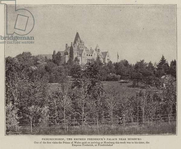 Friedrichshof, the Empress Frederick's Palace near Homburg (b/w photo)
