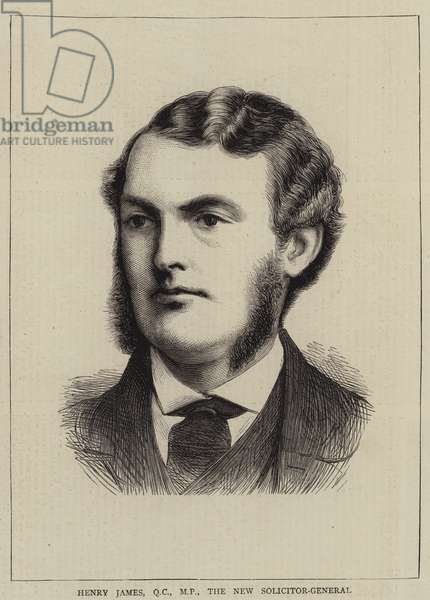 Henry James, QC, MP, the New Solicitor-General (engraving)