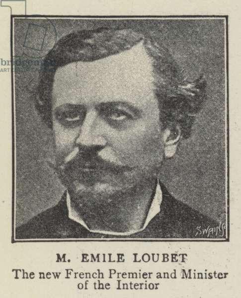 M Emile Loubet (b/w photo)