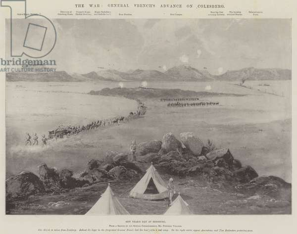The War, General French's Advance on Colesberg (litho)
