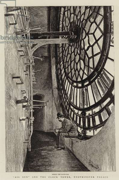 """Big Ben"" and the Clock Tower, Westminster Palace (litho)"