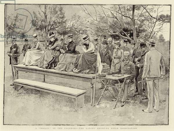 "A ""Bisley"" in the Colonies, the Ladies' Bermuda Rifle Association (engraving)"
