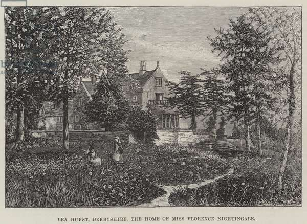 Lea Hurst, Derbyshire, the Home of Miss Florence Nightingale (engraving)