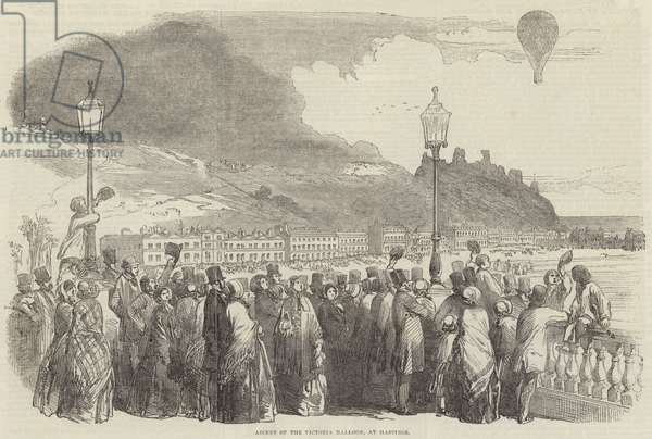 Ascent of the Victoria Balloon, at Hastings (engraving)