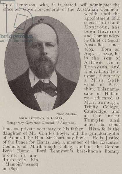 Lord Tennyson, KCMG, Temporary Governor-General of Australia (b/w photo)
