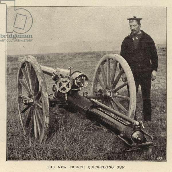 The New French Quick-firing Gun (b/w photo)