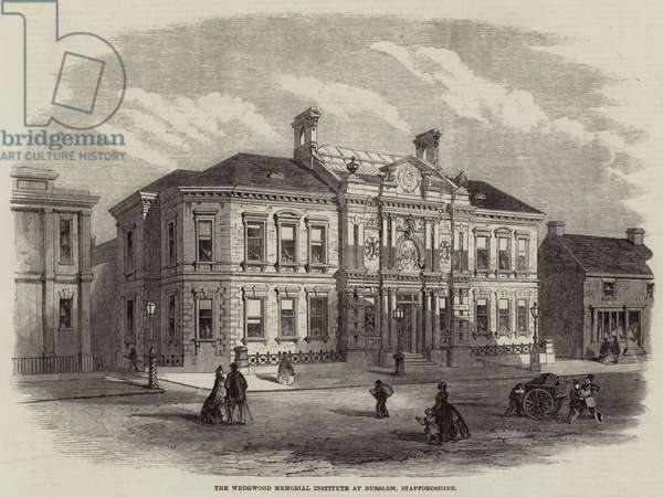 The Wedgwood Memorial Institute at Burslem, Staffordshire (engraving)