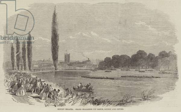 Henley Regatta, Grand Challenge Cup Match, London and Oxford (engraving)