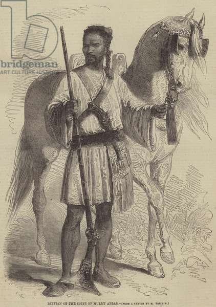 Riffian of the Suite of Muley Abbas (engraving)