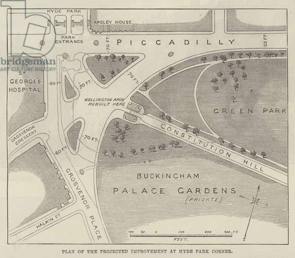Plan of the Projected Improvement at Hyde Park Corner (engraving)