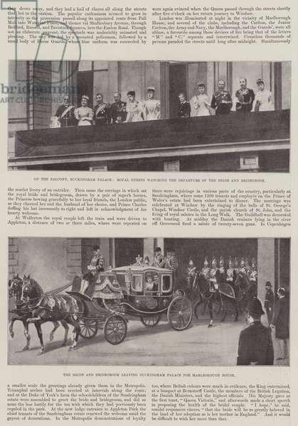 Wedding of Princess Maud of Wales and Prince Charles of Denmark (litho)