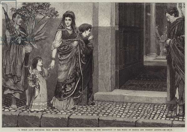 A Roman Lady returning from making Purchases (engraving)
