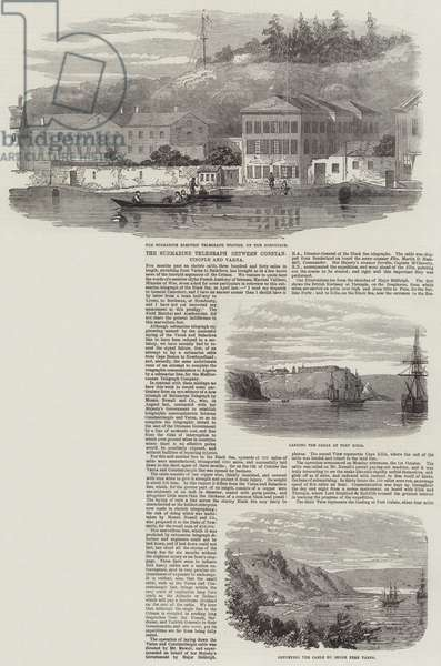 The Submarine Telegraph between Constantinople and Varna (engraving)
