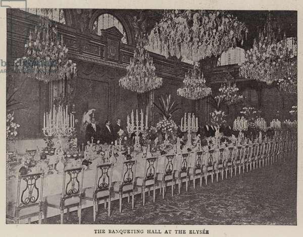The Banqueting Hall at the Elysee (b/w photo)