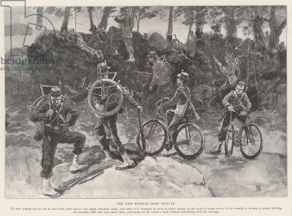 The New French Army Bicycle (litho)