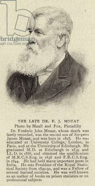 The Late Dr F J Mouat (engraving)