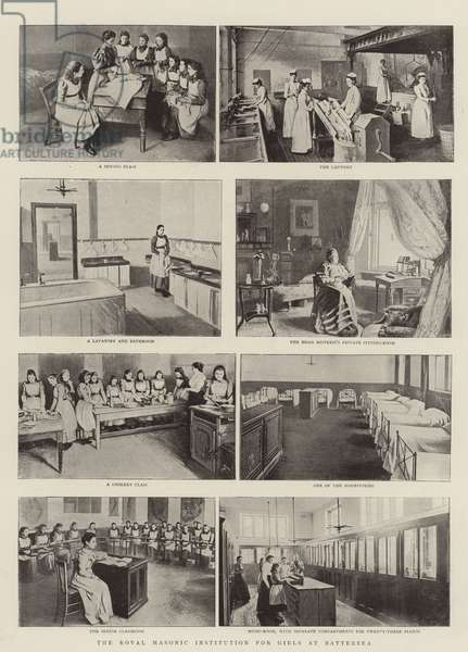 The Royal Masonic Institution for Girls at Battersea (b/w photo)