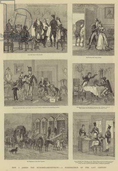 How I joined the Hundred-and-Fiftieth, a Reminiscence of the Last Century (engraving)