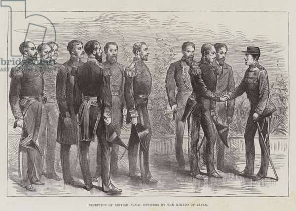 Reception of British Naval Officers by the Mikado of Japan (engraving)