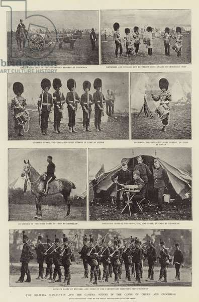 The Military Manoeuvres and the Camera, Scenes in the Camps of Churn and Crookham (b/w photo)