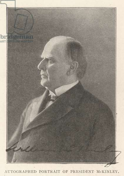 Autographed Portrait of President McKinley (b/w photo)