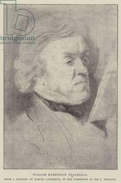 William Makepeace Thackeray (litho)