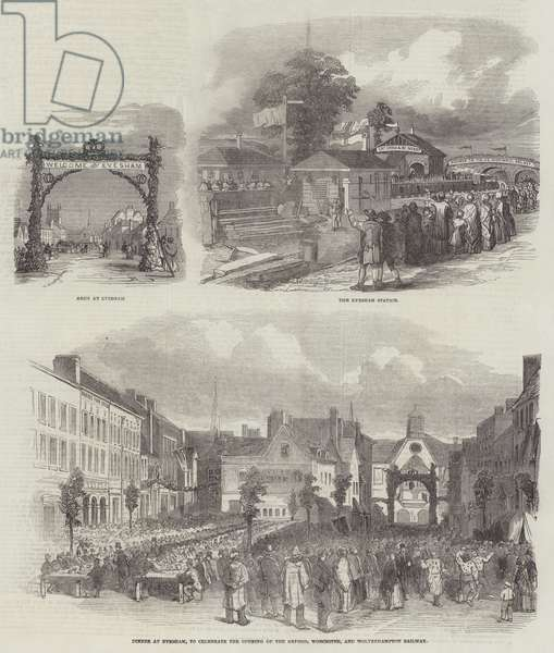 Opening of Oxford, Worcester, and Wolverhampton Railway (engraving)