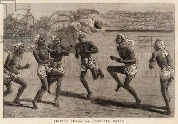 British Burmah, a Football Match (engraving)