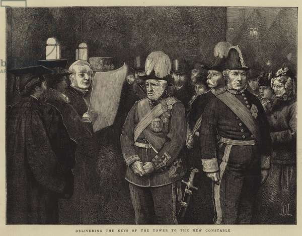 Delivering the Keys of the Tower to the New Constable (engraving)