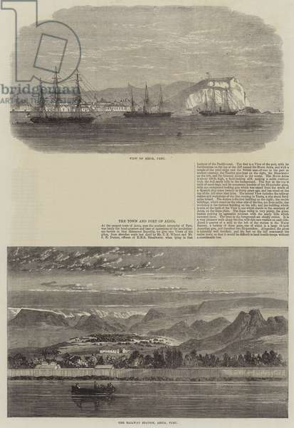 The Town and Port of Arica (engraving)
