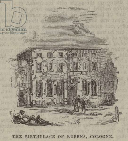 The Birthplace of Rubens, Cologne (engraving)