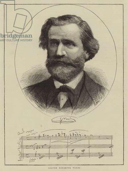 Signor Giuseppe Verdi (engraving)