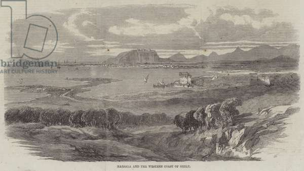 Marsala and the Western Coast of Sicily (engraving)