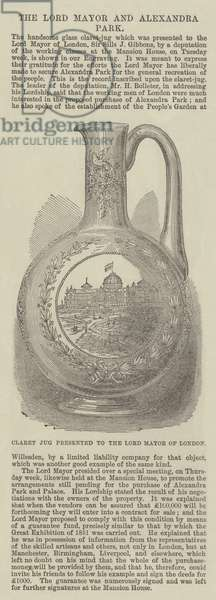 Claret Jug presented to the Lord Mayor of London (engraving)