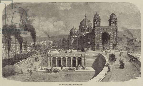 The New Cathedral at Marseilles (engraving)