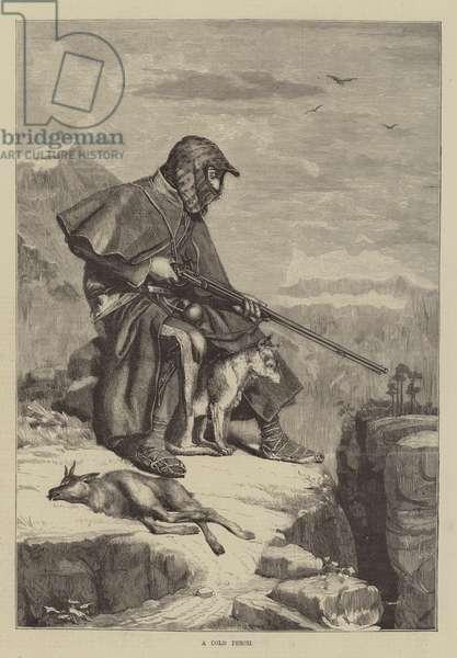 A Cold Perch (engraving)