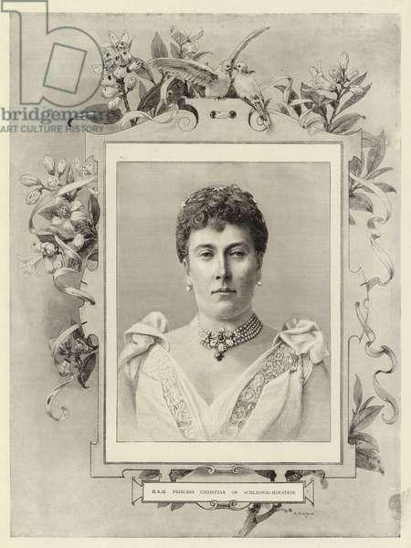 H R H Princess Christian of Schleswig-Holstein (engraving)