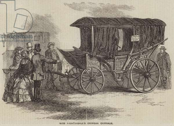 Miss Nightingale's Crimean Carriage (engraving)
